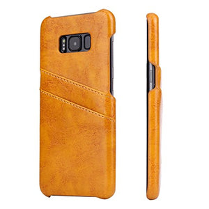 Protective Case for Samsung Galaxy S8 Plus 6.2 inch Case with 2 Card Cases Hardcase in Leather-Look Soft Touch Handy Case