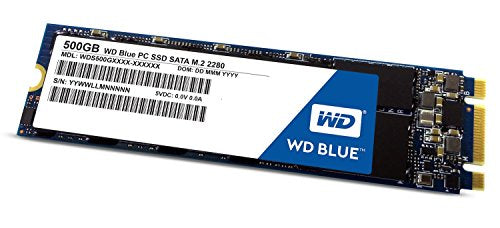 WD Blue 500GB PC SSD - SATA 6 Gb/s M.2 2280 Solid State Drive - WDS500G1B0B [Old Version]