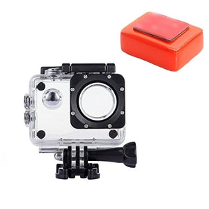 VVHOOY Action Camera Waterproof Protection Housing Case with Float Sponge Compatible for AKASO EK7000/APEMAN/Victure/EKEN H9R/Yuntab/SOOCOO/WeyTy/WiMiUS Q1,Q2/SJ4000 Underwater Sport Action Camera