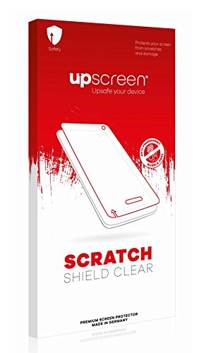 upscreen Scratch Shield Clear Screen Protector for TechniSat TechniMax 2, Strong Scratch Protection, High Transparency, Multitouch Optimized