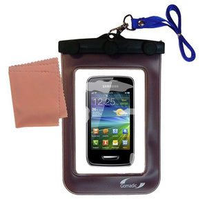 outdoor Gomadic waterproof carrying case suitable for the Samsung Wave Y to use underwater - keeps device clean and dry