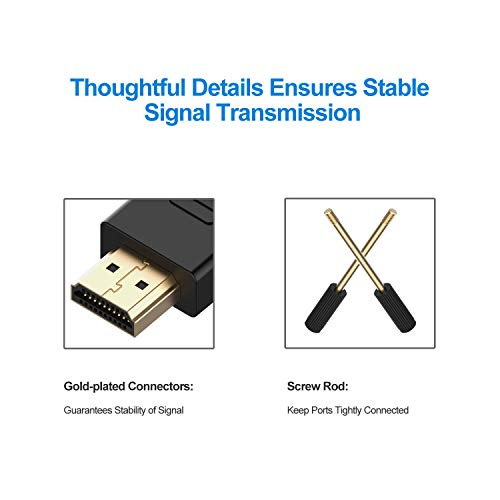 Rankie HDMI to DVI Cable, CL3 Rated High Speed Bi-Directional, 6 Feet, Black