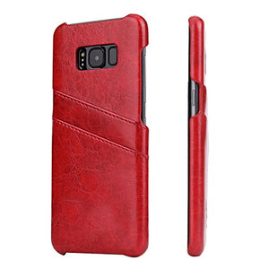 Handy case for Samsung Galaxy S8 5.8 inch Sleeve with 2 Card Slots Hardcase in Leather-Look Soft Touch Protective Sleeve