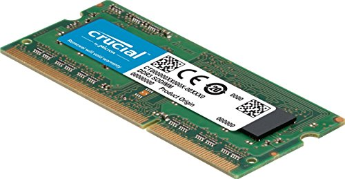 Crucial 8GB Single DDR3/DDR3L 1866 MT/s (PC3-14900) Unbuffered SODIMM 204-Pin Memory - CT102464BF186D
