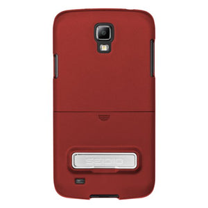 Seidio CSR3SSG4AK-GR SURFACE Case with Metal Kickstand for use with Samsung Galaxy S4 ACTIVE - Carrying Case - Retail Packaging - Garnet Red