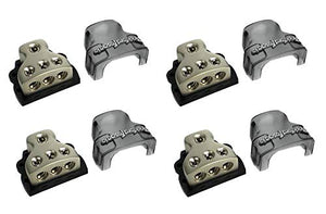 4) ROCKFORD FOSGATE RFD4 0/1/4-Gauge Ga Car Audio Distribution Blocks 1-In 3-Out