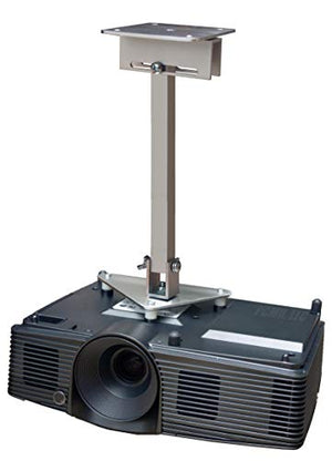 PCMD, LLC. Projector Ceiling Mount Compatible with Optoma DH1015 EH500 X600 with Lateral Shift Coupling (14-Inch Extension)