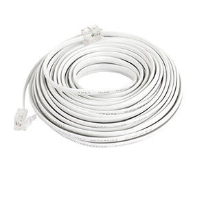 uxcell 10M 32.8Ft RJ11 Telephone Extension Cable Connector White