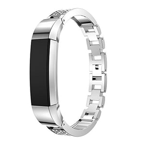 Fitbit Alta HR Band, Hmlai 2017 New Arrival Stainless Steel Watch Bracelet Band Strap For Fitbit Alta HR (Silver)