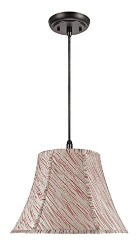 Aspen Creative White 70044 One-Light Pendant with Bell Shaped (Spider) Shade, 7 x 13 x 9 1/2