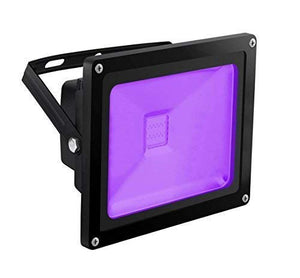 UV Light Black Light, HouLight High Power 20W Ultra Violet UV LED Flood Light IP65-Waterproof (85V-265V AC) for Halloween, Blacklight Party, Neon Glow, Glow in the Dark, Birthdays, Blacklights, Curing
