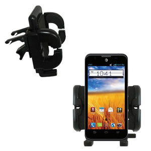 Gomadic Innovative Vent Cradle Vehicle Mount Designed for The ZTE Mustang Z998 - Adjustable Vent Clip Holder for Most Car/Auto Vent Systems