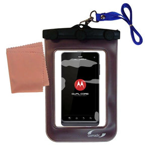 Gomadic Outdoor Waterproof Carrying case Suitable for The Motorola Milestone 3 to use Underwater - Keeps Device Clean and Dry