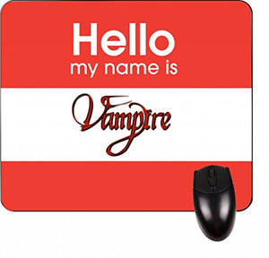 Hello My Name Is Vampire-Hard Black Plastic Snap - On Case with Soft Black Rubber Flip Cover--Samsung GALAXY S3 I9300 - Samsung Galaxy S III - Great Quality!