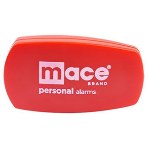 Mace Brand Wearable 130dB Personal Protection Alarm with Emergency Activation Belt Clip Trigger | Black or Red (Red)
