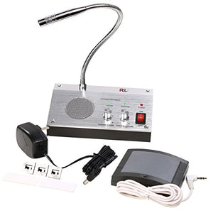 UHPPOTE Dual Way Bank Office Store Bus Station Hospital Security Window Counter Intercom Interphone External Speaker Guard Glass