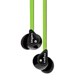 Veho Z-1 in-Ear Headphones | Anti Tangle Cable | Stereo Noise Isolating | Earbuds | Earphones - Green (VEP-003-360Z1-L)