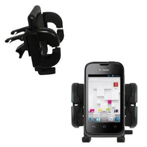 Gomadic Air Vent Clip Based Cradle Holder Car/Auto Mount Suitable for The Huawei Prism II