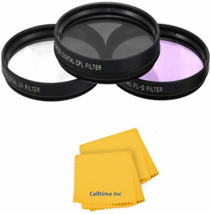 Celltime Inc. 3-Piece Multi-Coated Glass Filter Kit (72mm UV/FLD/CPL)