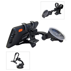 Ramtech Universal 360 Rotating Car Windshield Suction Mount Dual Clip Holder Bracket Stand For 6