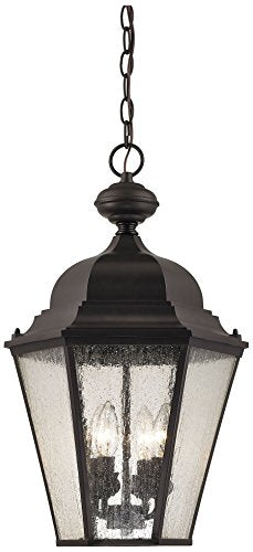 Cornerstone Lighting 8903EH/75 Cotswold 4 Light Exterior Hanging Lamp, Oil Rubbed Bronze