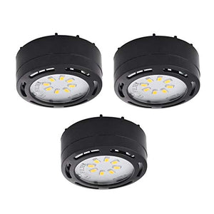 LEDP3120BK - 120 Volt LED Puck 3 Light Kit-Black