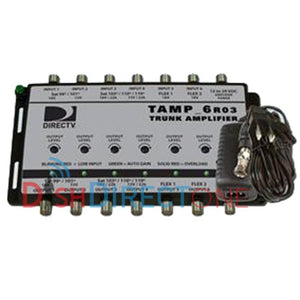 Sonora TAMP6T12 Directv D2 Advantage, [6] Coax Amp Adj. Output, With 12 Volt Psu [tamp6t12]