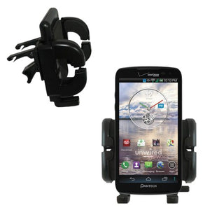 Gomadic Air Vent Clip Based Cradle Holder Car/Auto Mount Suitable for The Pantech Perception