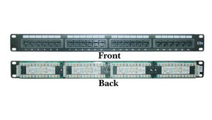 Offex CAT5E Patch Panel Horizontal 110 Type 24 Port 19