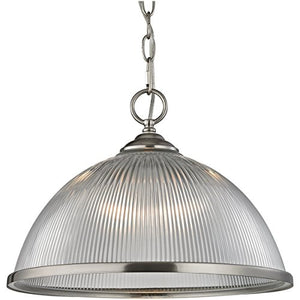 Cornerstone Lighting 7691PL/20 Liberty Park 1 Light Pendant, Brushed Nickel