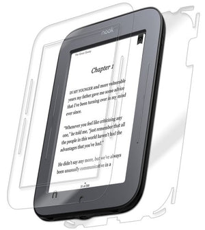 IQ Shield Full Body Skin Compatible with Barnes & Noble Nook Touch + LiQuidSkin Clear (Full Coverage) Screen Protector HD and Anti-Bubble Film