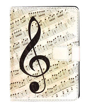 Music Notes Tablet and E-reader Case