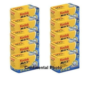Kodak 10 Rolls Gc 135 24 Max 400 Color Print 35mm Film Iso 400 (Pack Of 10)