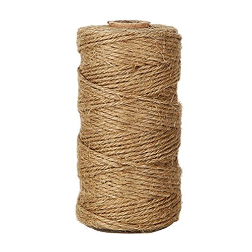 Kinglake 328 Feet Natural Jute Twine Best Arts Crafts Gift Twine Christmas Twine Durable Packing Str
