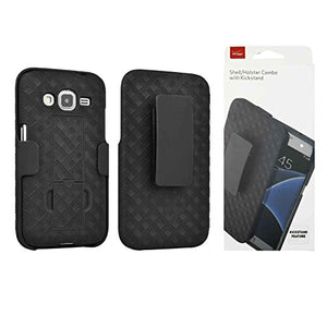 Verizon OEM Shell Holster Stand Combo Case for Samsung Core Prime - Black - Retail Package
