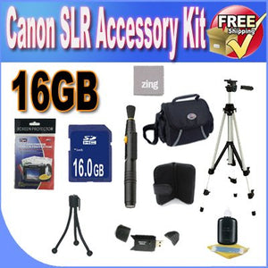 Digital SLR Camera 16GB SDHC Deluxe Accessory Saver Kit.
