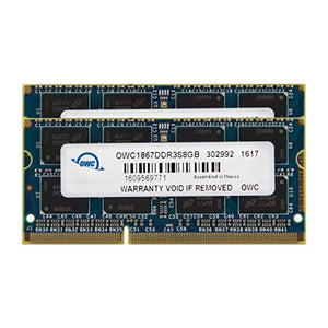 OWC 16GB (2 x 8GB) 1867 MHZ DDR3 SO-DIMM PC3-14900 204 Pin CL11 Memory Upgrade, (OWC1867DDR3S16P)