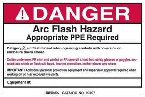 Arc Flash Protection Label, 4inHx6inW, PK5