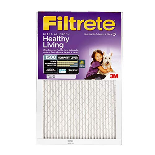 Filtrete Mpr 1500 14x20x1 Ac Furnace Air Filter, Healthy Living Ultra Allergen, 4 Pack