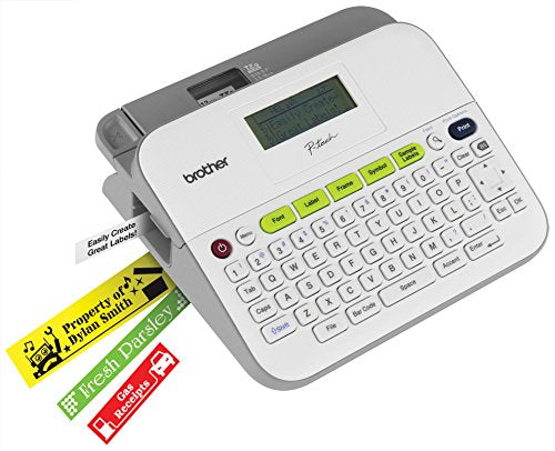 Brother P-touch Label Maker, Versatile Easy-to-Use Labeler, PTD400AD,  AC Adapter, QWERTY Keyboard, Multiple Line Labeling, White