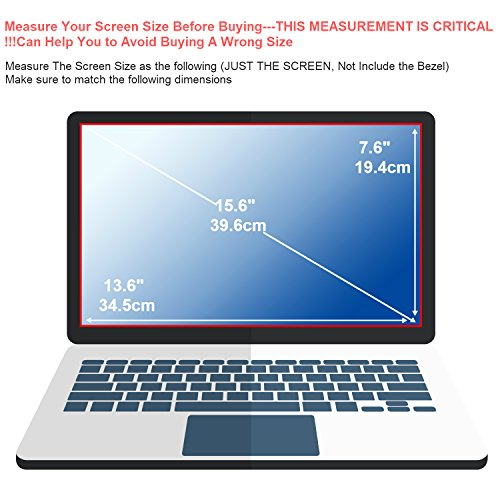 [2PCS Pack] 15.6-Inch Laptop Anti Glare Screen Protector, FORITO Notebook Computer Anti-Glare Screen Guard Protector Compatible with HP/DELL/Asus/Acer/Sony/Samsung/Lenovo/Toshiba, Display 16:9