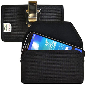 Turtleback Belt Clip Case Made for Samsung Galaxy Mega 6.3 Black Holster Nylon Pouch with Heavy Duty Rotating Belt Clip Horizontal Made in USA