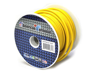 American Terminal ATPW12-100Y 12 Gauge Primary Wire, Yellow