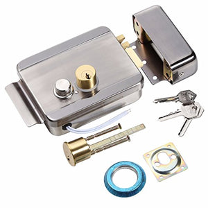 UHPPOTE Anti-Theft Electric Control Release Rim Door Lock Fail Secure Stainless Steel