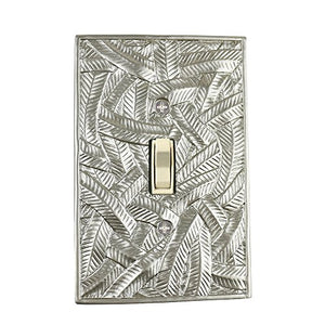 Meriville Island 1 Toggle Wallplate, Single Switch Electrical Cover Plate, Pewter
