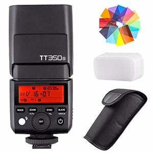 EACHSHOT Godox TT350S 2.4G HSS 1/8000s TTL GN36 Wireless Speedlite Flash for Sony Mirrorless DSLR A7 A7R A7S A7-II A7-III A7R-II A7R-III A7S-II A6300 A6000 Color Filter