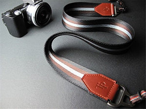 BolinUS Luxury Real Leather + Thick Nylon + Metal Camera Strap Neck Strap for Olympus OM-D E-M10 Mark III Camera - Strap