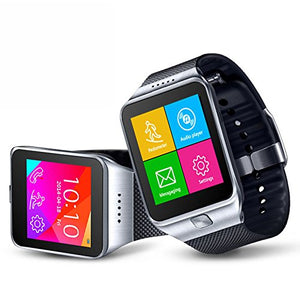 indigi Universal 2-in-1 Bluetooth Compatible + SimCard SmartWatch w/Pedometer + Sleep Monitor + Remote Shutter (Silver)