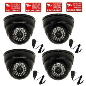 VideoSecu 700TVL Outdoor Dome Security Cameras 4 Pack Built-in 1/3