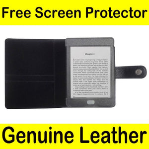 Mochie (tm) Genuine Leather Pouch Case Cover Jacket for Amazon Kindle Touch Black
